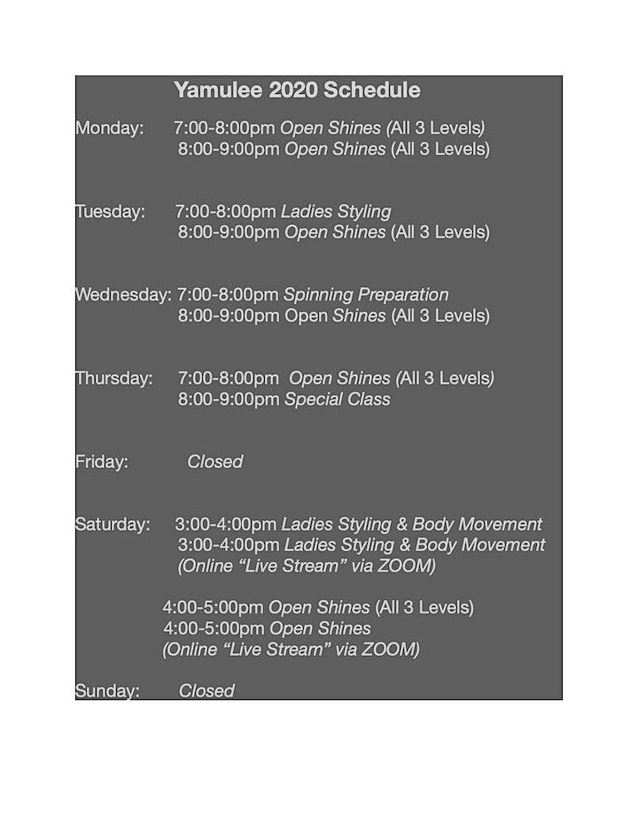 Wednesday Intermediate/Advance Shines 8-9pm image