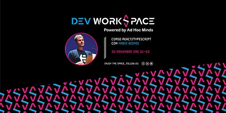 3ª puntata Corso React/Typescript GRATUITO 4Beginners・Dev WorkSpace Meetup