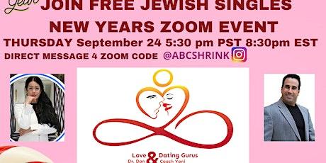 ZOOM Thursday Virtual Jewish Post Rosh Hashannah Singles Event! tickets