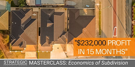 Subdivision Masterclass: First-Time Property Developers tickets