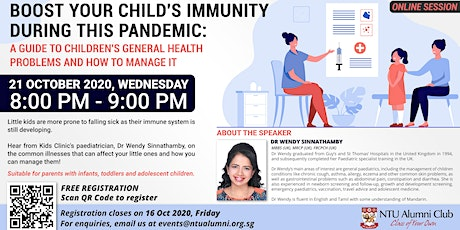 Boost Your Child's Immunity During This Pandemic tickets