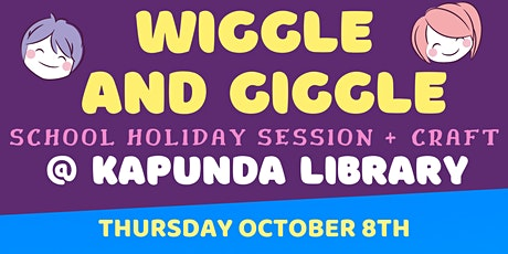 School Holidays - Wiggle and Giggle + Craft @ The Kapunda Library tickets