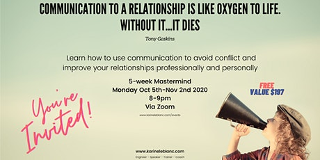 5-week Mastermind:  Communication to avoid conflicts & improve relationship tickets