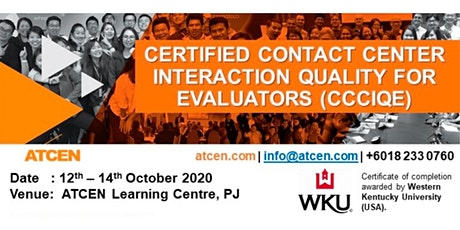 Certified Contact Center Interaction Quality For Evaluators tickets