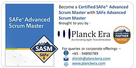 SAFe® Advanced Scrum Master with SAFe®5 Advanced Scrum Master Certification tickets