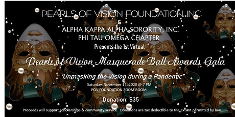 2020 Virtual Pearls of Vision Foundation Masquerade Ball Awards Gala tickets