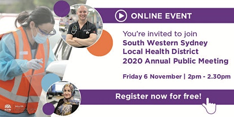 South Western Sydney Local Health District 2020 Annual Public Meeting tickets