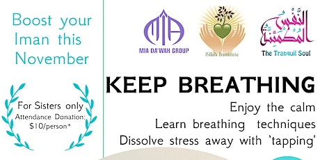 Keep Breathing - November Boost your Iman series tickets