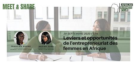 Leviers et opportunités de l'entrepreneuriat des femmes en Afrique billets