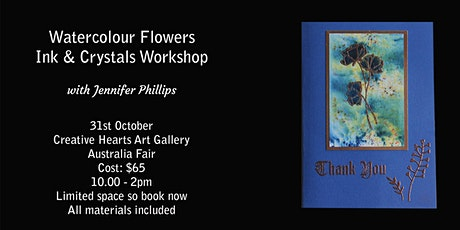 Watercolour Flowers Workshop with Ink Powder & Pencil tickets