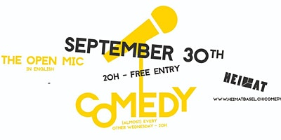 The Comedy Open Mic - 30th of September
