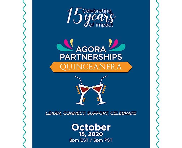 Agora Partnerships' 15th Anniversary Virtual Celebration image