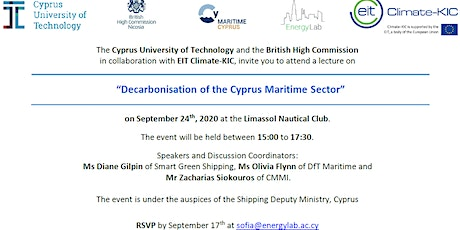 Decarbonisation of the Cyprus Maritime Sector tickets