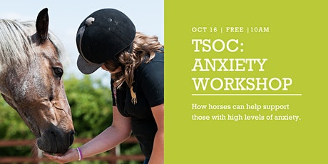How horses can help support those with high levels of anxiety. tickets
