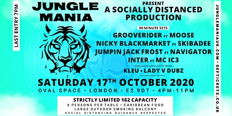 Jungle Mania presents a Socially Distanced Promotion #2 tickets