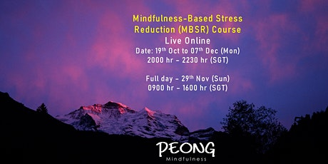 Mindfulness-Based Stress Reduction (MBSR) Course - Live Online