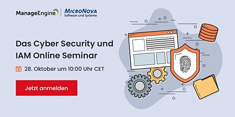 ManageEngine  Cybersecurity and IAM Online Seminar tickets