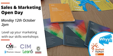 Sales & Marketing Training Open Day - 80% minimum funded courses tickets