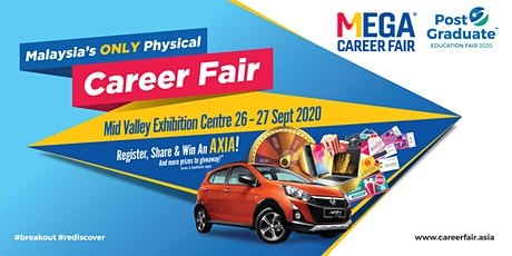 Mega Career Fair & Post Graduate Education Fair 2020 - Mid Valley KL tickets