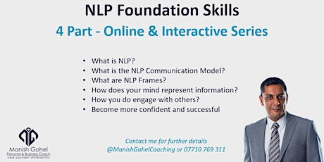 NLP Foundation Skills - 4 Part Online Series tickets