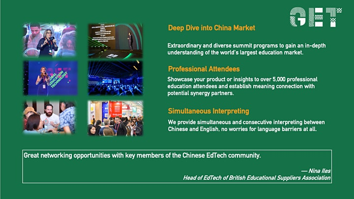 2020GET (Global Education Technology) Summit and Expo Ticket image