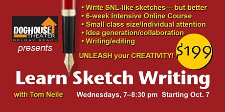 Sketch Writing Comedy Class | Virtual tickets