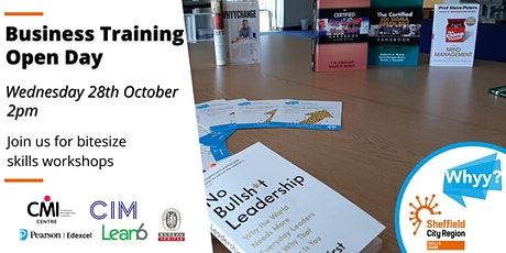 Business Training Open Day - 80% minimum funded tickets