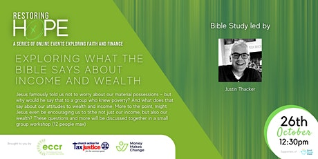 Restoring Hope | What does the Bible  say about income and wealth? tickets