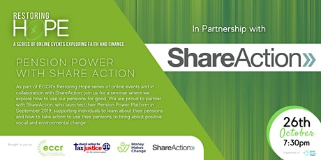 Restoring Hope | Pension Power with ShareAction tickets