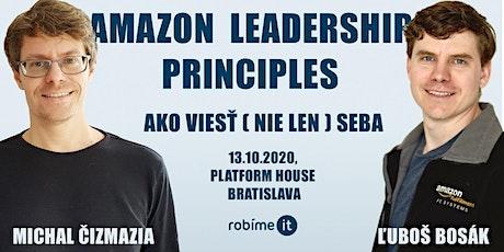 Amazon Leadership Principles - ako viesť (nie len) seba tickets