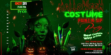 Halloween Costume Paint N Sip Party tickets