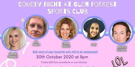 Comedy Night at Glen Forrest Sports Club tickets