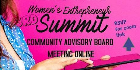 #WE Summit VIRTUAL Community Board Zoom Meeting tickets