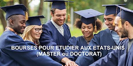 Visioconférence 2 : Nos bourses d'études (Master et PhD) billets