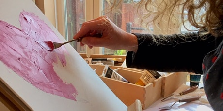Abstract painting with palette knife workshop tickets