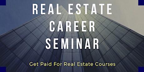 Real Estate Career Seminar (Virtual) - Scholarship Program Available tickets