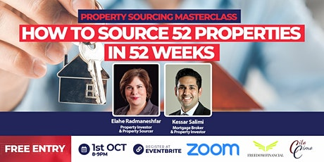 Property Sourcing Masterclass | How to source 52 properties in 52 weeks tickets