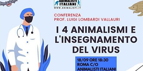 "Conferenza ""I 4 animalismi e l'insegnamento del virus"" tickets"