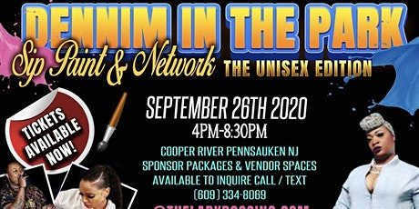 """Denim in the Park """"Sip  & Paint""""!!! The Unisex edition! tickets"""
