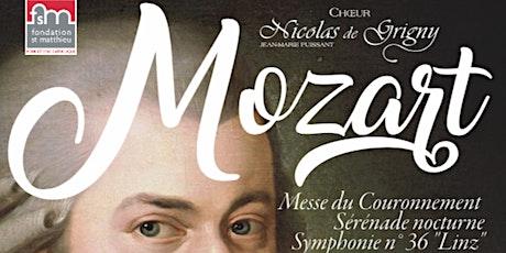 MOZART, Messe du couronnement billets