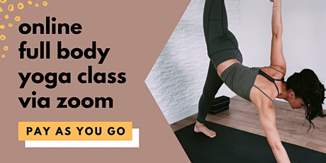 Namas Yoga | Online Yoga class via Zoom | Sat 9am | Single class tickets