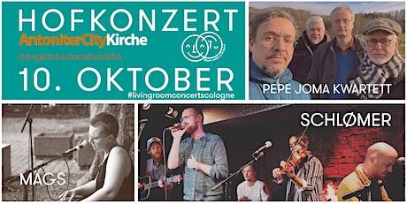 Hofkonzert mit SCHLØMER, dem Pepe Joma Kwartett & Mags Tickets