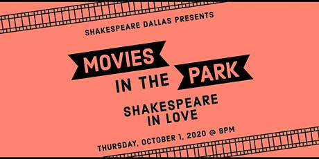 Outdoor Movies in the Park: Shakespeare in Love tickets