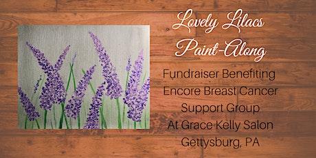 Grace Kelly Salon Lovely Lilacs Paint-Along Fundraiser tickets