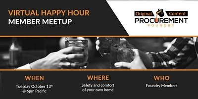 Virtual All Member Happy Hour-West Coast Preference Time