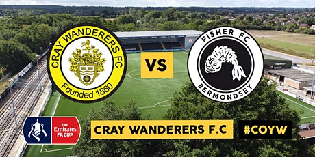 Cray Wanderers VS Fisher FC - FA Cup 1st Qualifying Round tickets