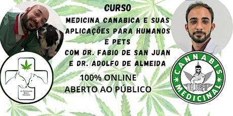 Medicina Canabica e suas aplicações para humanos e pets ingressos