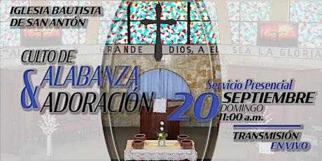 Culto de Alabanza y Adoración 20 de septiembre de 2020 entradas