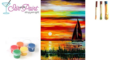 Stir Up The Paint Virtual  2 hour Paint Event:  Sailing Into The Sunset tickets