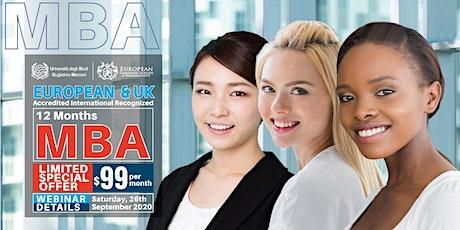 FREE EUROPEAN MBA WEBINAR - September 26, 2020 (INTERNATIONAL) tickets